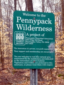 Pennypack Wilderness sign 3-14-15 small