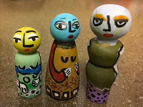 Wooden figures 5-19 #13